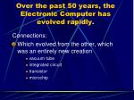 over the past 50 years the electronic computer has evolved rapidly