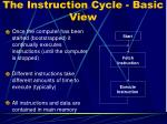 the instruction cycle basic view