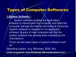 types of computer softwares1