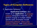 types of computer softwares2