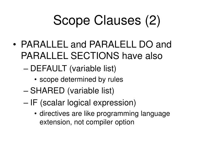 Scope Clauses (2)