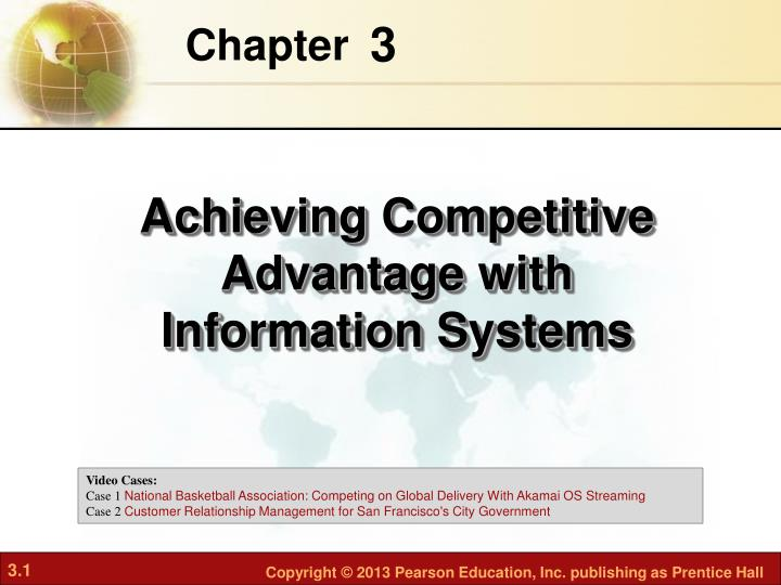 the importance of information systems in enhancing competitive advantage Competitive advantage through information and  competitive advantage, information and communication technology  information systems such as radix,.