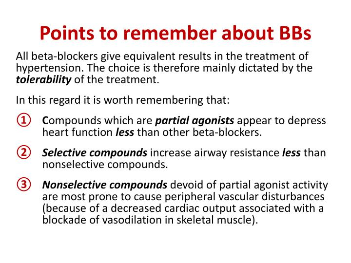 Points to remember about BBs