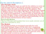 facts about olympics 1