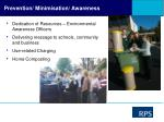 prevention minimisation awareness