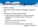 prevention and public health fund1