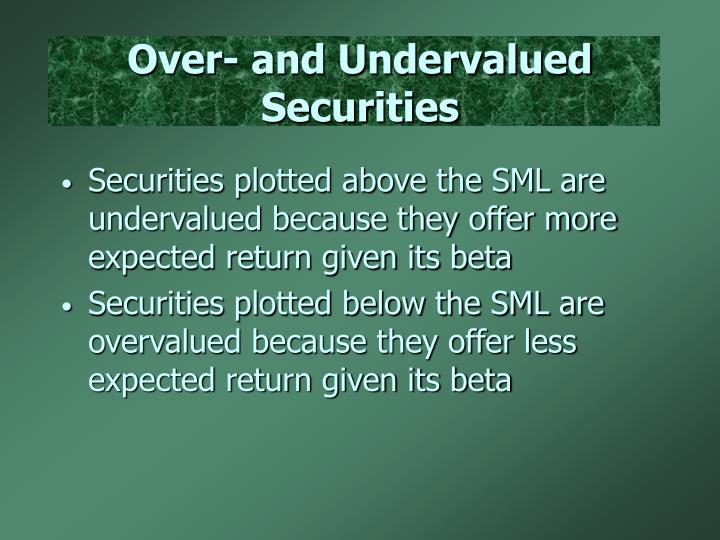 Over- and Undervalued Securities
