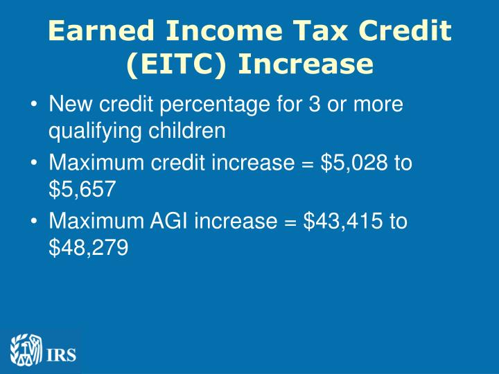 Earned Income Tax Credit (EITC) Increase