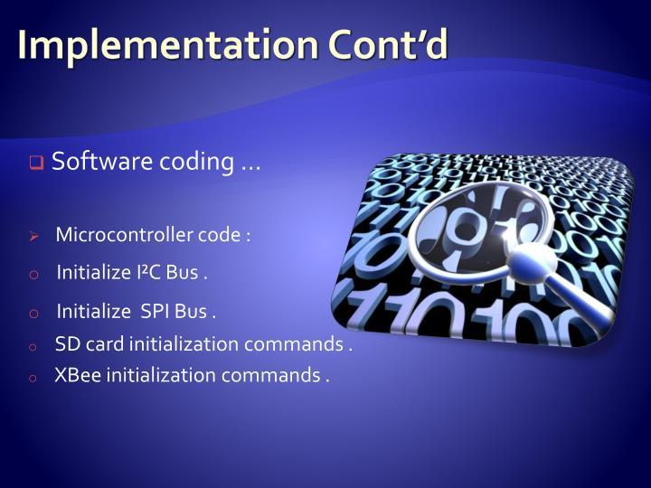 Implementation Cont'd