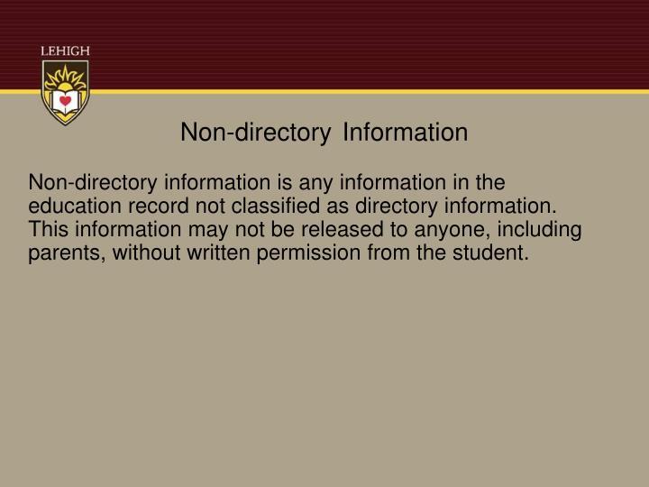 Non-directory