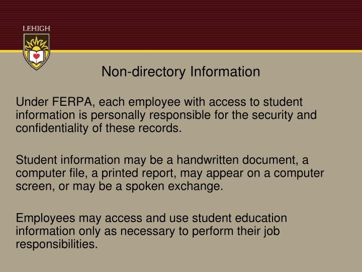 Non-directory Information