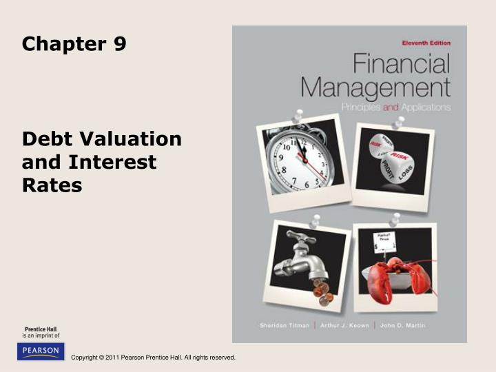 debt valuation and interest rates n.