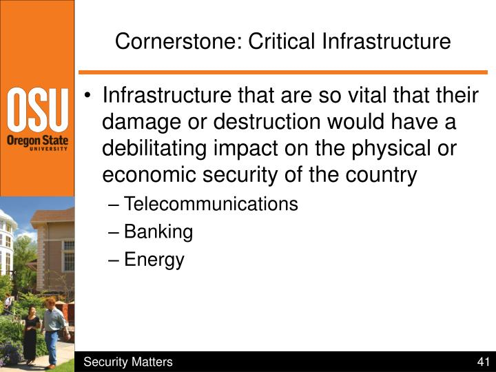 Cornerstone: Critical Infrastructure