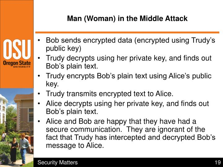 Man (Woman) in the Middle Attack