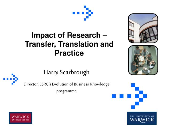 Impact of research transfer translation and practice