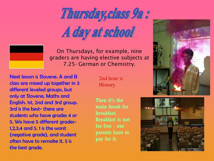 Thursday,class 9a :