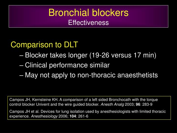 Bronchial blockers