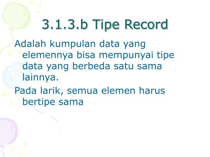 3.1.3.b Tipe Record