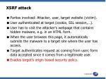 xsrf attack