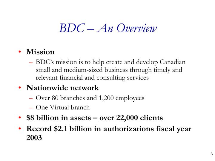 Bdc an overview