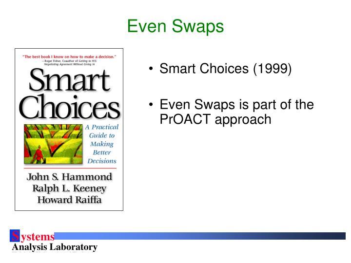 Even swaps