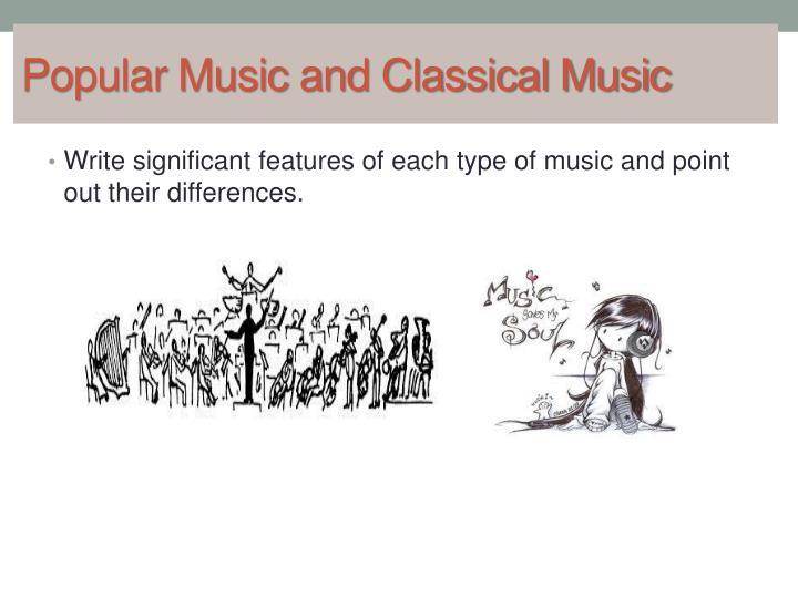 popular music and classical music n.