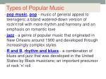 types of popular music