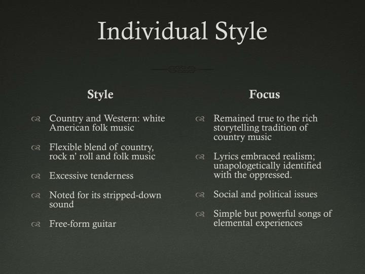 Individual Style