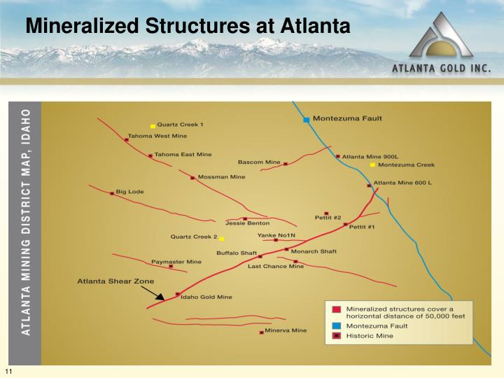 Mineralized Structures at Atlanta