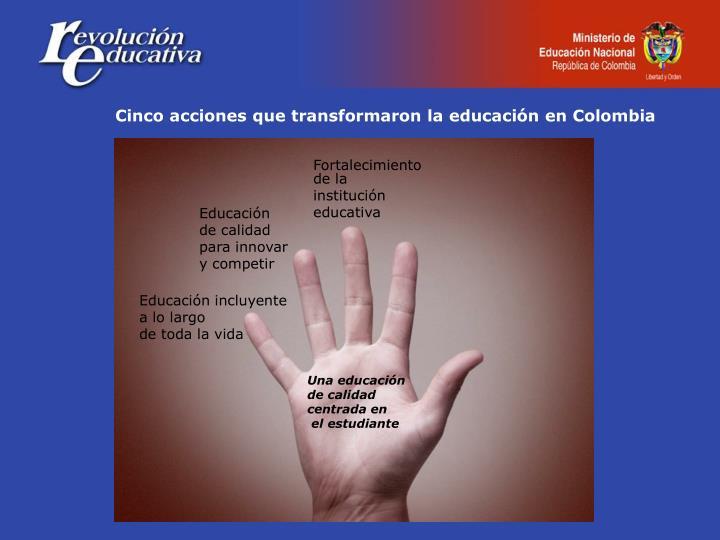 Cinco acciones que transformaron la educación en Colombia