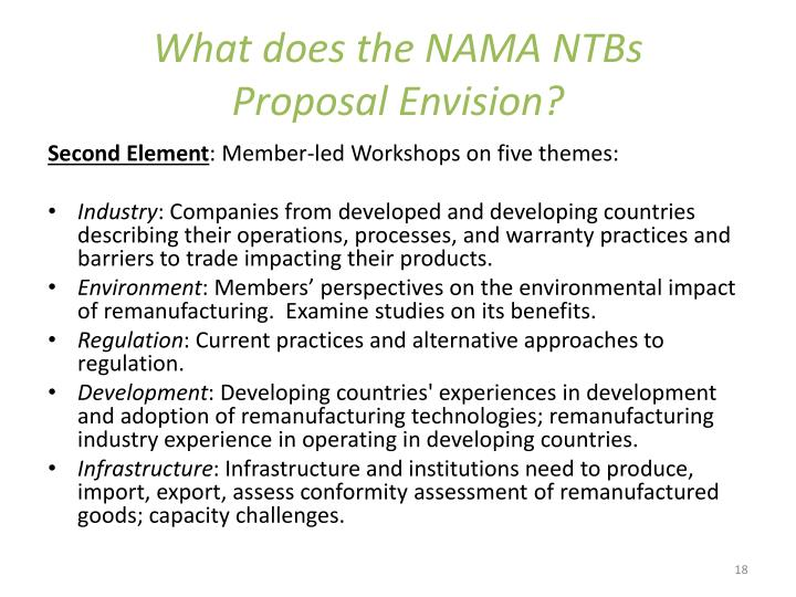 What does the NAMA NTBs