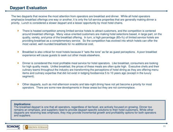 Daypart Evaluation