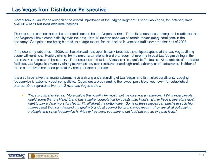 Las Vegas from Distributor Perspective