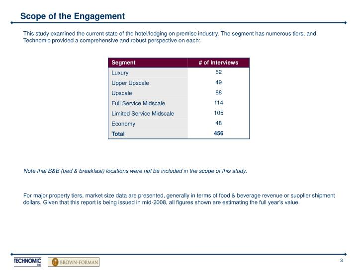 Scope of the Engagement