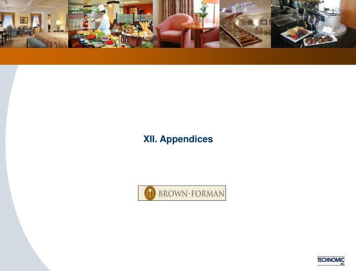 XII. Appendices