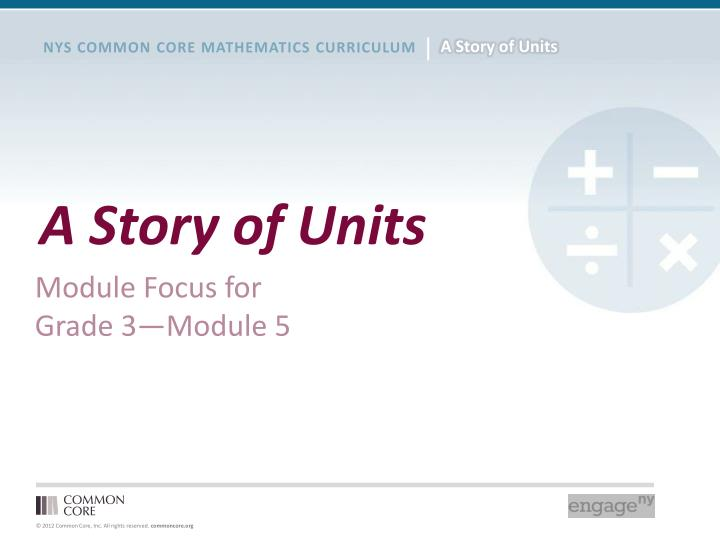 a story of units