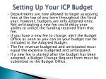 setting up your icp budget