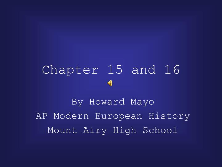 chapter 15 and 16 n.
