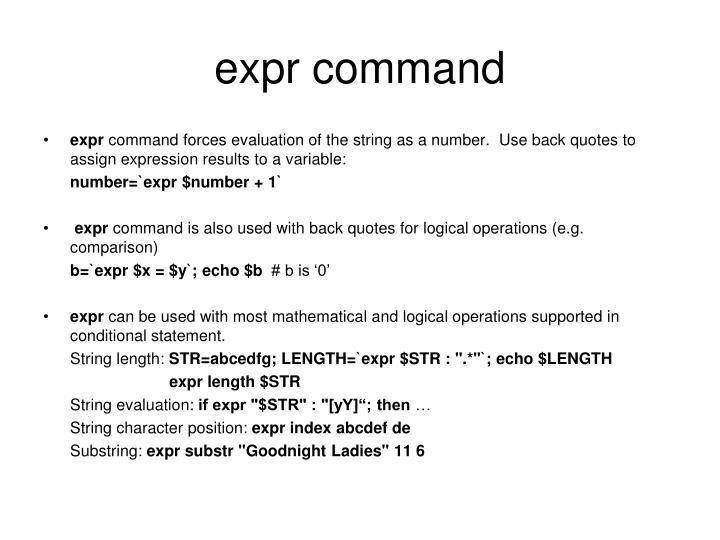 expr command