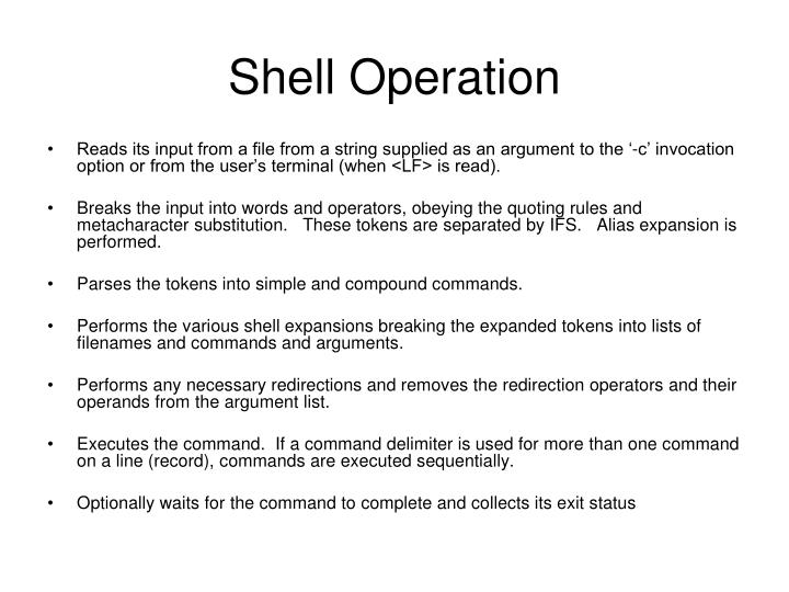 Shell Operation