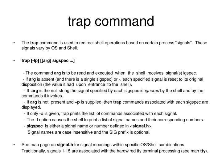 trap command
