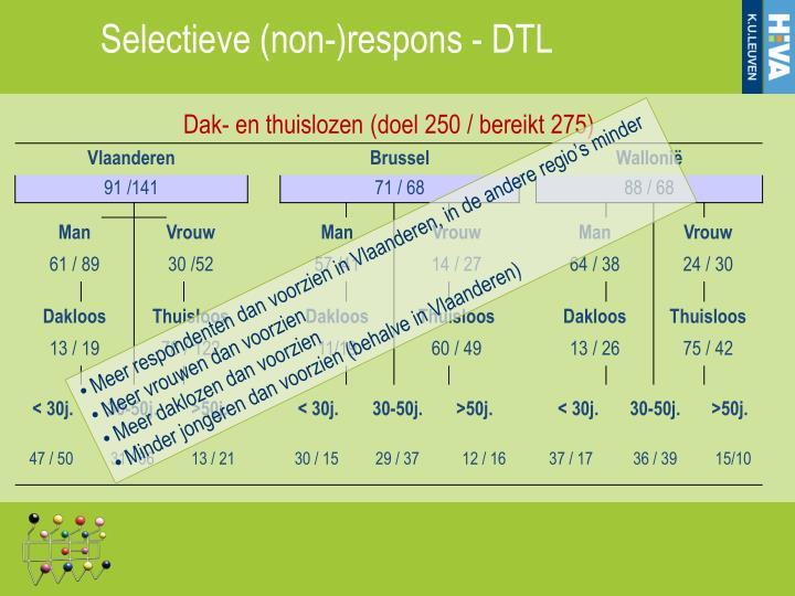 Selectieve (non-)respons - DTL