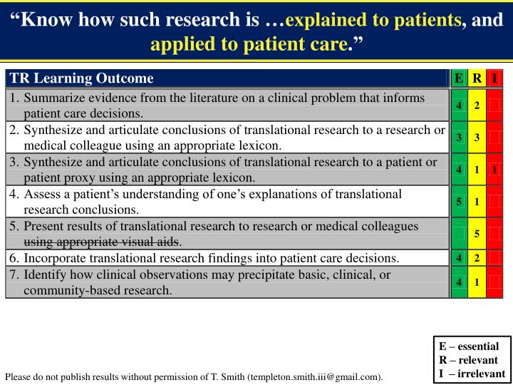 Translational Research