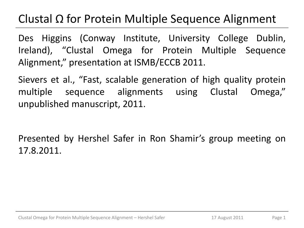 Chap. 4: multiple sequence alignment ppt video online download.