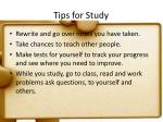 tips for study1