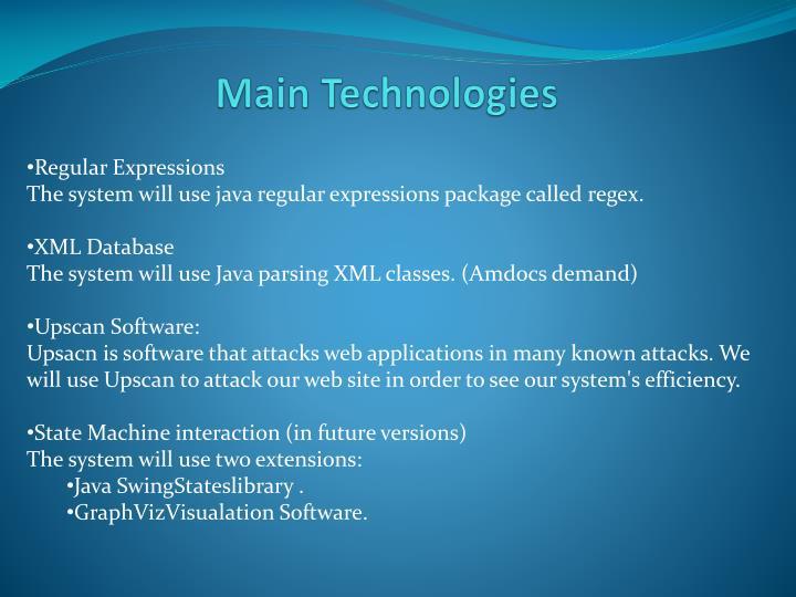 Main Technologies