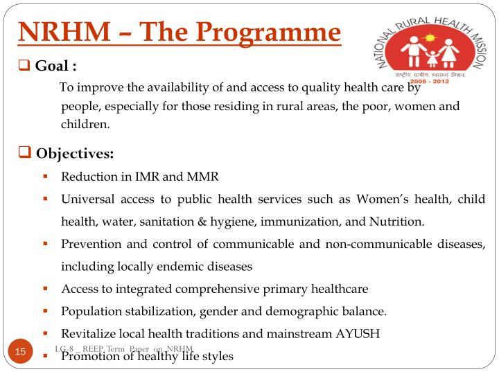 NRHM – The Programme
