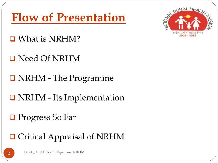 Flow of Presentation