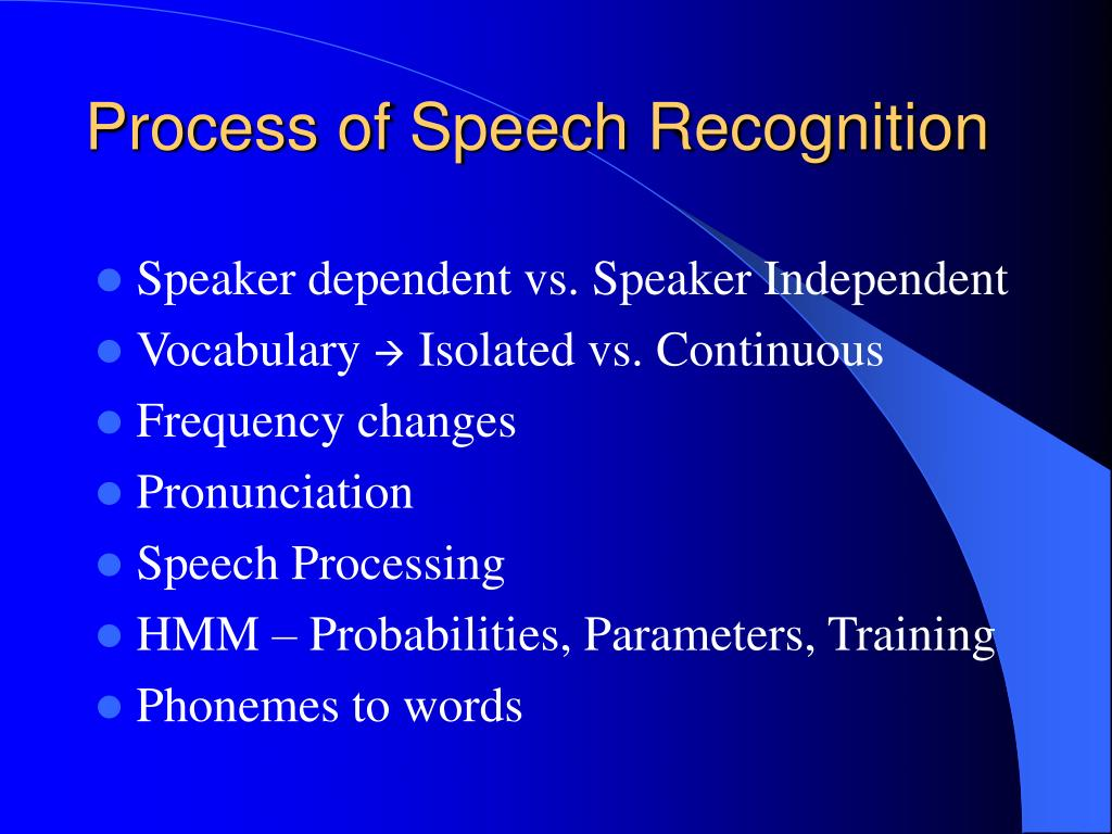 PPT - Speech Recognition Application PowerPoint Presentation - ID