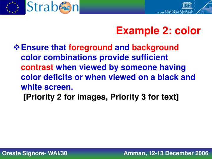 Example 2: color
